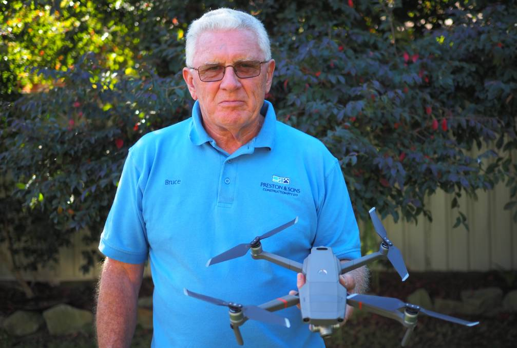 SENIOR FLYER: Bruce Preston wants to put his drone flying skills to commercial use.