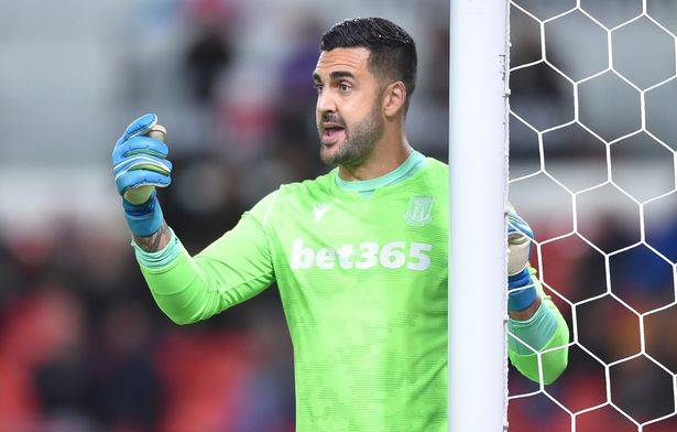 Huskisson product Adam Federici during a recent match for Stoke City. Photo: POTTERS MEDIA