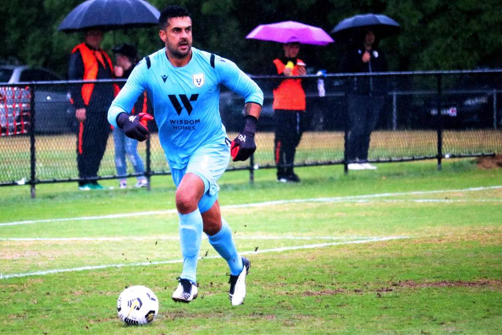 Huskisson's Adam Federici during a recent trial match with Macarthur. Photo: Bulls Media