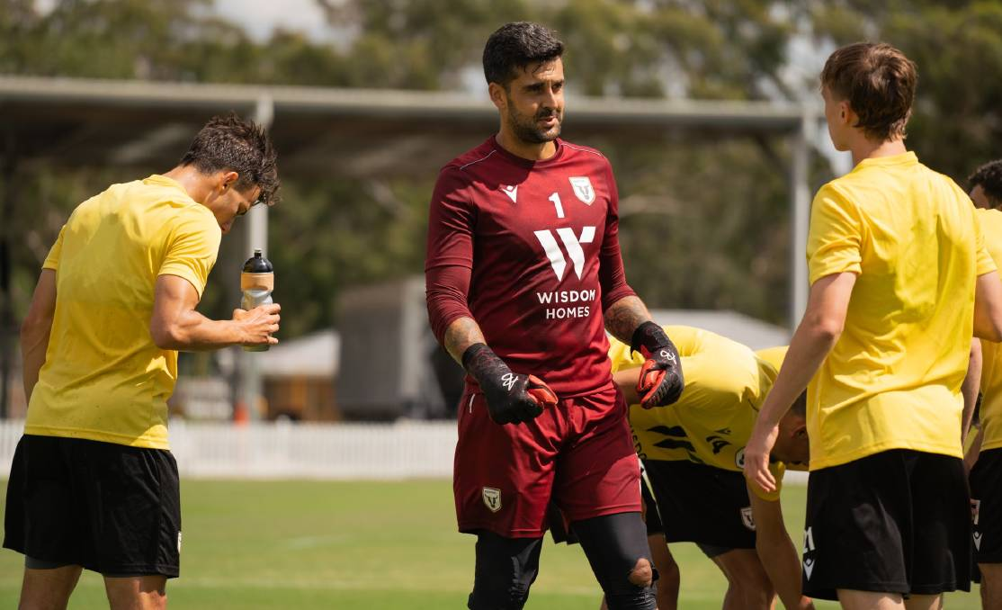 Huskisson's Adam Federici during a recent training session with Macarthur. Photo: Bulls Media