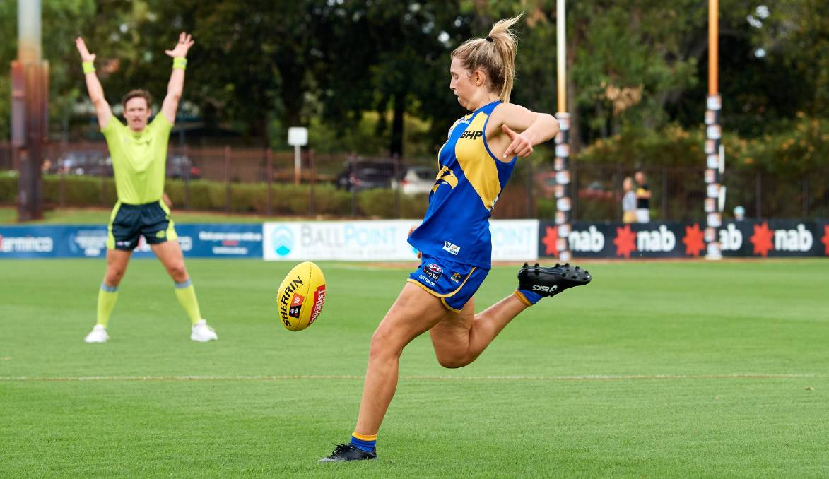 Nowra's Maddy Collier will be looking to build on her strong debut season with West Coast in 2021. Photo: Eagles Media