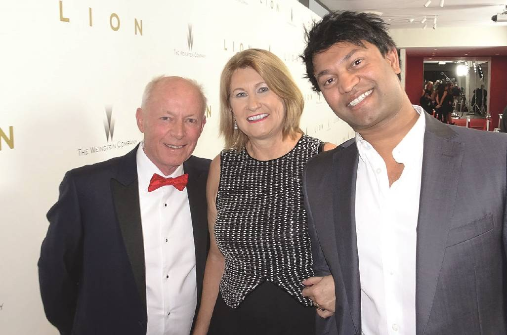 John and Sue Brierley with their adopted son Saroo, who became famous when his memoir was made into the film Lion. Photograph: Penguin Random House