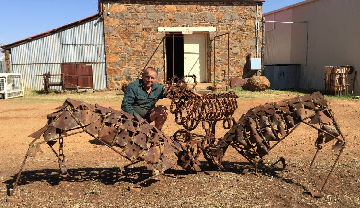 Tony Inder may know how to breed Merino rams, but he has amazed his wife with his artistic welding tricks at Nyrang, Wellington.