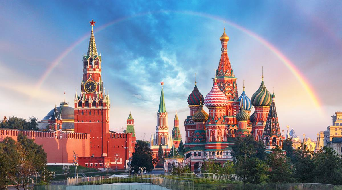 Majestic and magical Moscow, the Red Square from the Kremlin to St Basil's Cathedral. Picture: Shutterstock