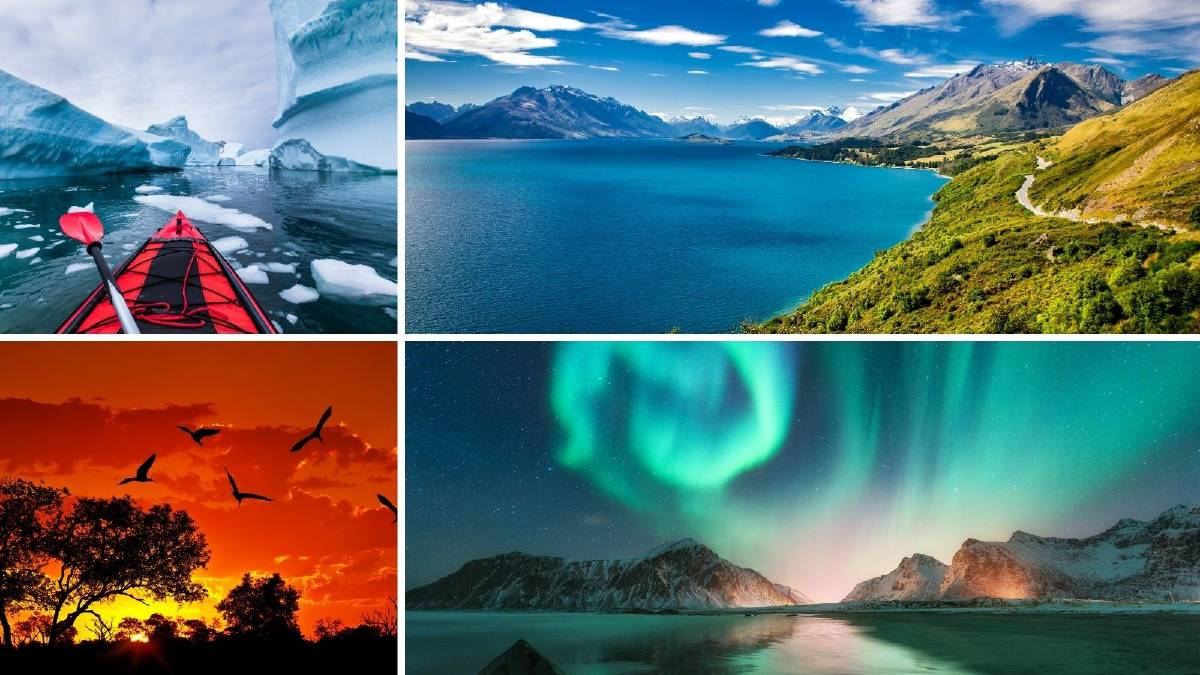WHERE TO?: Antarctica, New Zealand, Scandinavia and Africa are on the wish lists for 2021. Picture: File images