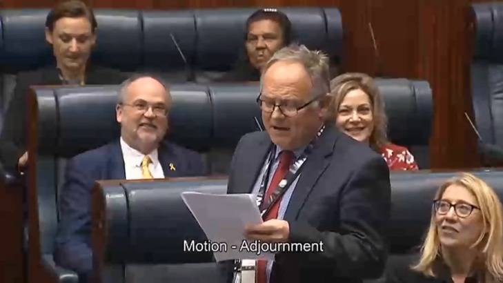 MP David Templeman lets rip as parliament ends in WA. Photo: screen grab