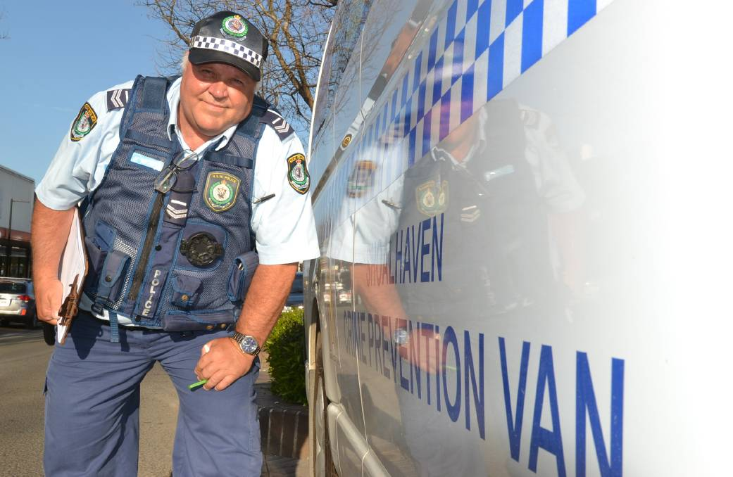 NSW Police Shoalhaven crime prevention officer Senior Constable Anthony Jory.