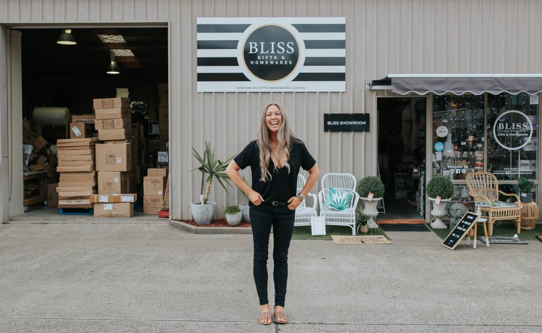 BUSINESSWOMAN: Bliss Gifts and Homewares owner Melissa Stone. Photo by Sam Venn Photography.