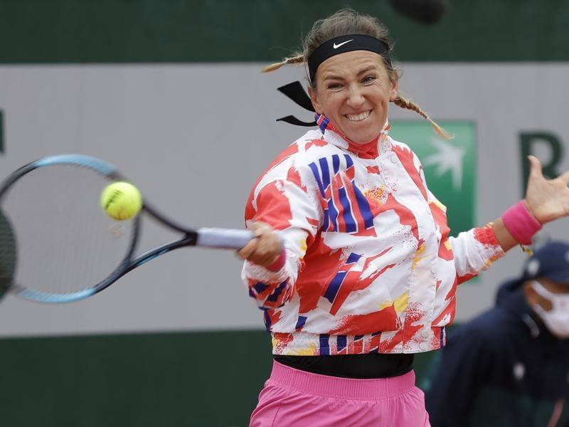 Former Australian Open champion Victoria Azarenka is among 72 tennis stars in hard lockdown.
