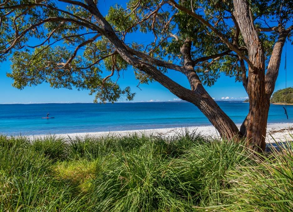 That view: Collingwood Beach, one of the longest beaches in Jervis Bay as was classed as very good in the report. Photo: Shoalhaven Tourism.