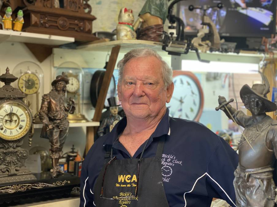 Untold wisdom: The South Coast's only watch and clock repairer Phillip Bickle.